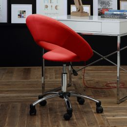 Plump-Red  Desk Chair