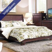 Grandiflora  Single/Queen Comforter ~100% Cotton~ (솜이불+베개커버 2개)(Size: 180 cm x 230 cm)