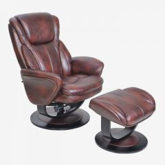 15-8022T Roma II  Leather Recliner w/ Ottoman