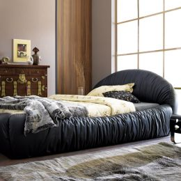 W0563  Leather Bed