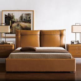 1186  Leather Bed
