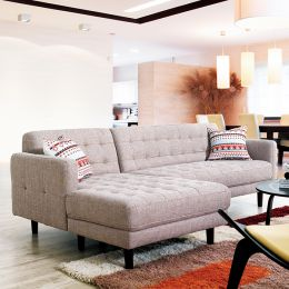 Bloom-Sand  Sofa w/ Chaise