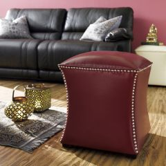 22494 Leather Ottoman