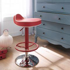 39494-Red  Mateo Adjustable Bar Stool