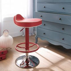 39494-Red  Mateo Adjustable Bar Stool