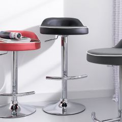 64982-Black   Solina Adjustable Bar Stool