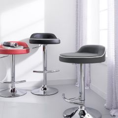 64988-Grey  Solina Adjustable Bar Stool