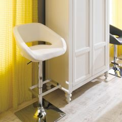 20726-White  Gustavo Adjustable Bar Stool