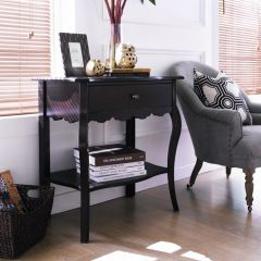 Milan-Black  Accent Console