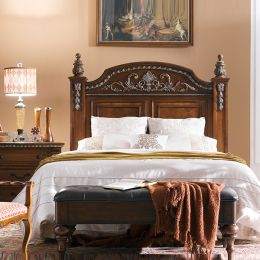B8168-Brown-HB  Queen Panel Bed