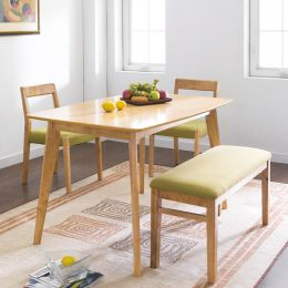 Mango-Green  Dining Set (1 Table + 2 Chairs + 1 Bench)