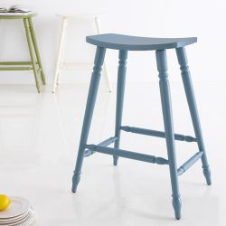 Lucas-Blue  Stool