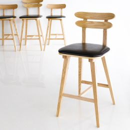 Olive-Natural  Bar Chair