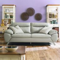MU-10282-Marble  3-Seater Leather Sofa