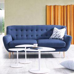 Oswald-Blue  3-Seater Sofa