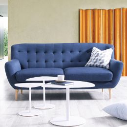Oswald-Blue  3-Seater Sofa