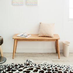 Luna-Natural-B  Wooden Bench