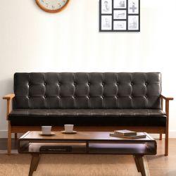 DT-1905-Black-PU  3-Seater Sofa