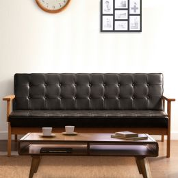 DT-1905-Black-PU  3-Seater Sofa