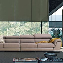 PS-0062 (2.5+2.5)  Leather Sofa