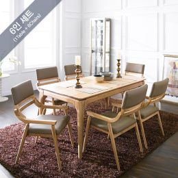 Realoak-6  Dining Set (1 Table + 6 Chairs)