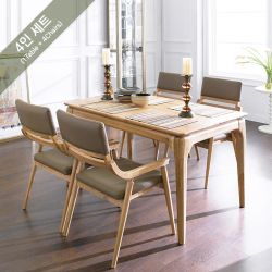 Realoak-4  Dining Set (1 Table + 4 Chairs)