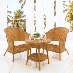 COZ Rattan  2-Chair & Table