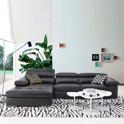 HTL-2620  Leather Sofa w/ Chaise