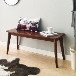 Luna-Walnut-B  Wooden Bench