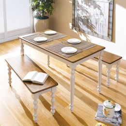 D3100-4  Dining Set (1 Table + 2 Benches)