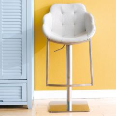 0899-WHT  Adjustable Bar Stool