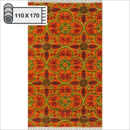 HAR13  Orange Multi (110*170cm)