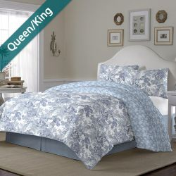 Ellison  Queen/King Comforter ~100% Cotton~ (솜이불+베개커버 2개)(Size: 213 cm x 230 cm)