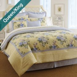 Caroline  Queen/King Comforter ~100% Cotton~ (솜이불+베개커버 2개)(Size: 213 cm x 230 cm)