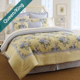 Caroline  Queen/King Comforter ~100% Cotton~ (솜이불+베개커버 2개)(Size: 213 cm x 230 cm)
