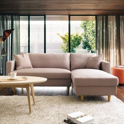 Adelaide-Brown  Sofa w/ Chaise
