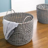 Round Hamper-Grey  (2 Pcs 포함)