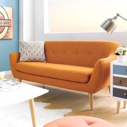 Alunda-Orange  3-Seater Sofa
