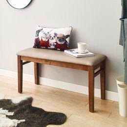 (0) Cabin-Walnut-B  Wooden Bench