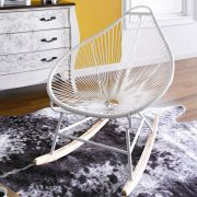 Gozo-White  Rocking Chair
