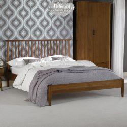 Orbit-Walnut-Low  Queen Bed w/ Slats