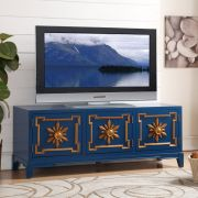 Blue 59  Small TV Stand