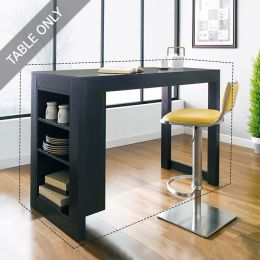D390-2-Black-IT  Island Table  (Table Only)