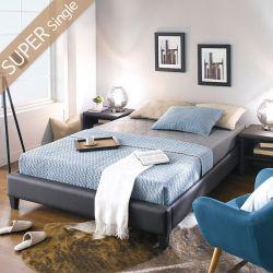 Gerda-1200-Brown  Super Single Bed w/ Wood Slats