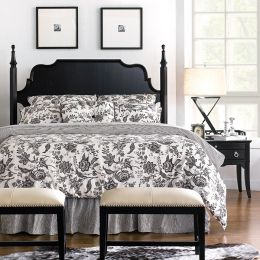 Mandy-58H-HB  Queen Poster Bed
