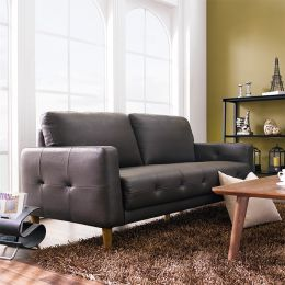M8005-Brown-PU  3-Seater Sofa