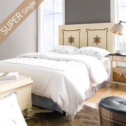 Cream & Gold-HB  Super Single Panel Bed