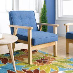BLUE-1901-Fabric Single Chair