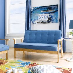 BLUE-1902-Fabric  2-Seater Sofa