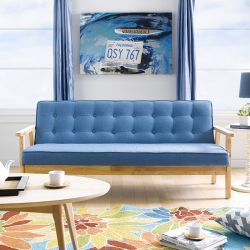 BLUE-1905-Fabric  3-Seater Sofa